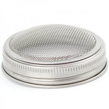 Mason Jar Sprouting Lid with Band - Wide Mouth