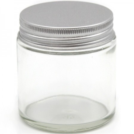 Clear Glass Jar with Silver Cap 50ml