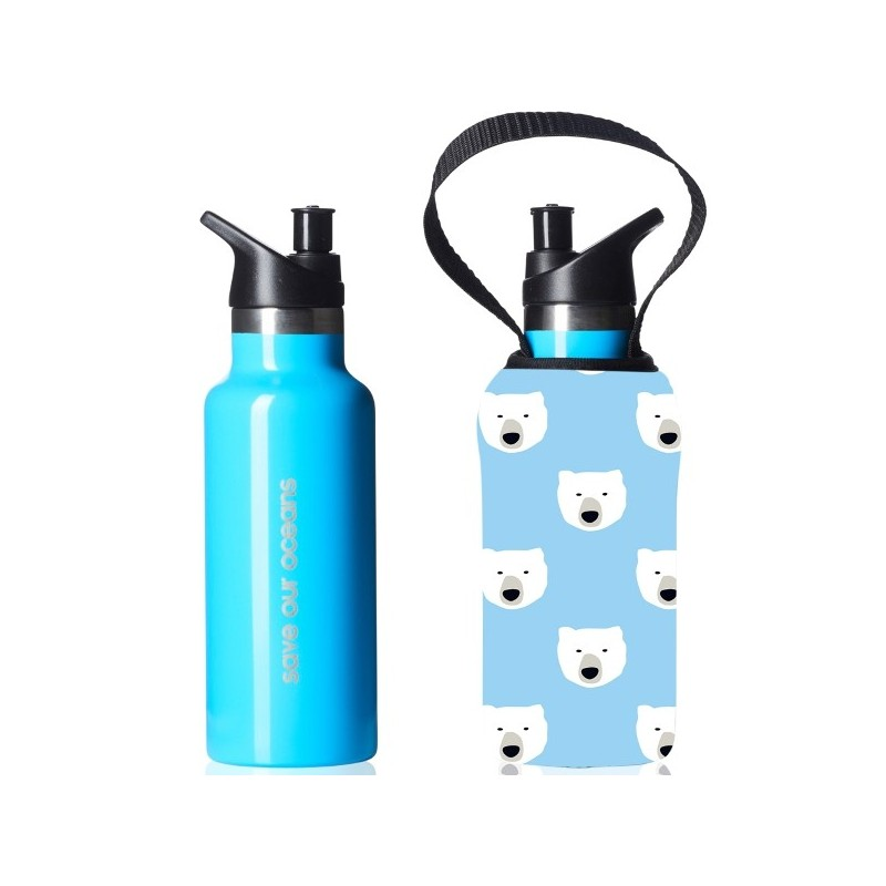 BBBYO Kids Sippy Bottle 500ml - Polar - Biome Eco Stores
