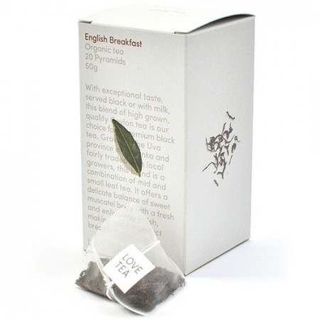 Love Tea Organic Tea Bags 50g - English Breakfast