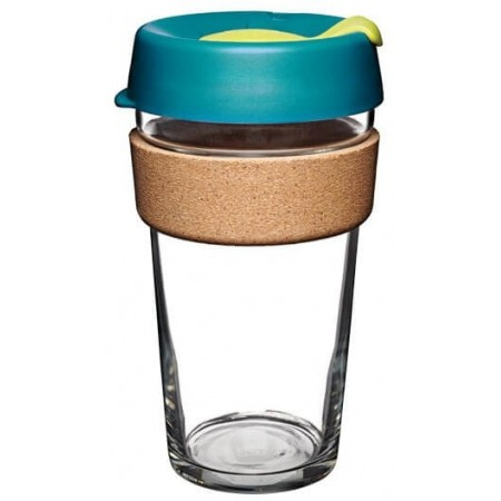 KeepCup Large Glass Cup Cork Band 16oz (454ml) - Turbine