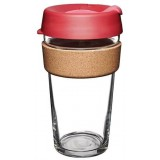 KeepCup Large Glass Cup Cork Band 16oz (454ml) - Thermal