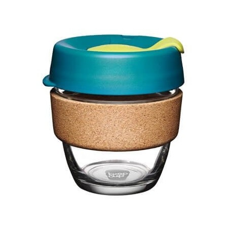 KeepCup Small Glass Cup Cork Band 8oz (227ml) - Turbine