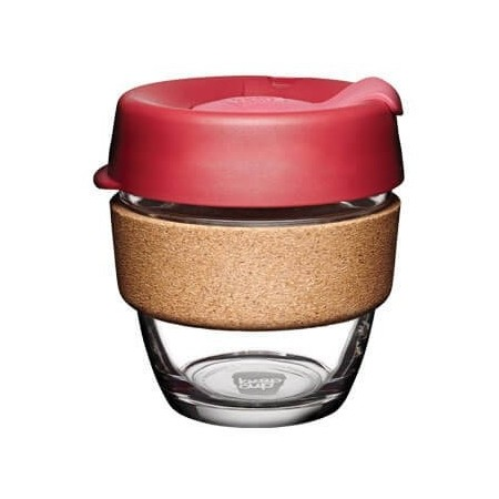 KeepCup Small Glass Cup Cork Band 8oz (227ml) - Thermal