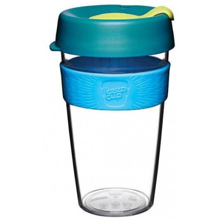 KeepCup Large Clear Plastic Coffee Cup 16oz (454ml) - Ozone