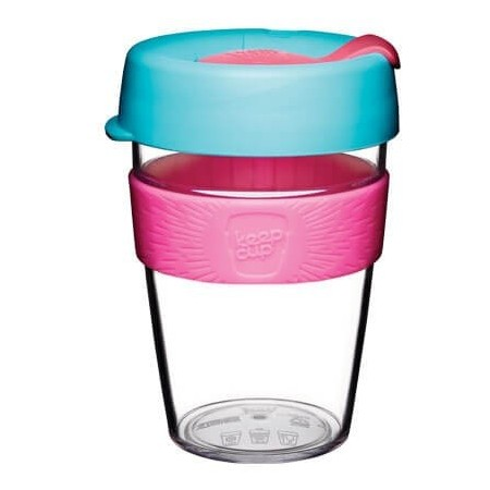 KeepCup Medium Clear Plastic Coffee Cup 12oz (355ml) - Radiant