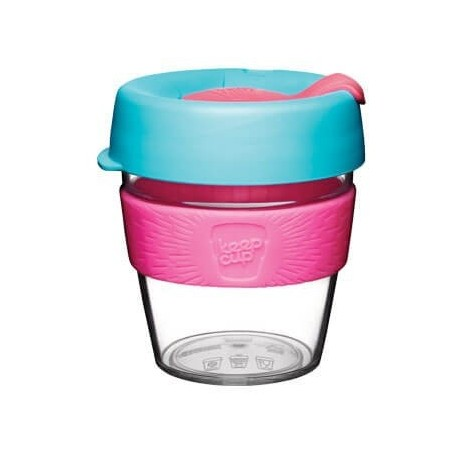 KeepCup Small Clear Plastic Coffee Cup 8oz (227ml) - Radiant