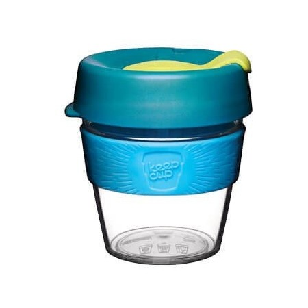 KeepCup Small Clear Plastic Coffee Cup 8oz (227ml) - Ozone