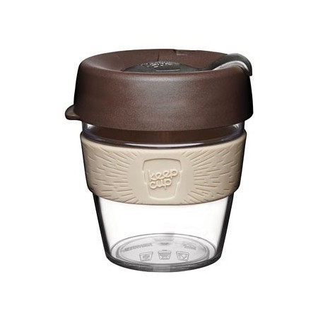 KeepCup Small Clear Plastic Coffee Cup 8oz (227ml) - Aroma