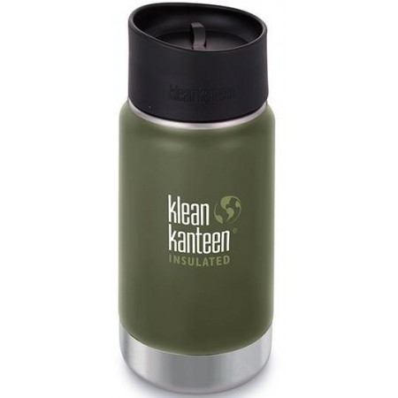 Klean Kanteen Wide Insulated Bottle 12oz 355ml - Fresh Pine Cafe Cap (Klean Coat)
