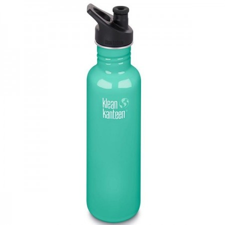 Klean Kanteen Classic Stainless Steel Water Bottle 27oz 800ml - Sea Crest (Klean Coat)