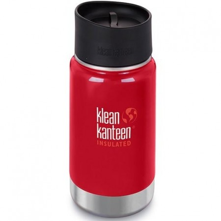 Klean Kanteen Wide Insulated Bottle 12oz 355ml - Mineral Red Cafe Cap (Klean Coat)
