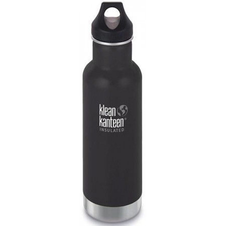 Klean Kanteen Classic Insulated Water Bottle 20oz 592ml - Shale Black (Klean Coat)