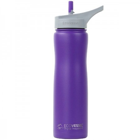 EcoVessel Summit Insulated Water Bottle 700ml - Purple Haze