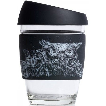 JOCO Glass Reusable Cup 350ml 12oz - Artist Series Jen Lobo