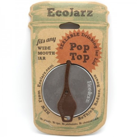 EcoJarz Stainless Steel PopTop Lid Insert - Brown
