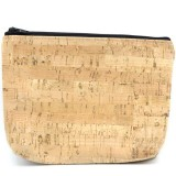 Cork Fabric Pouch - Medium