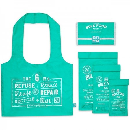 Onya Reusable Bulk Food Bag Starter Kit - Aqua