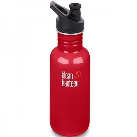 Klean Kanteen Classic Stainless Steel Water Bottle 18oz 532ml - Mineral Red (Klean Coat)
