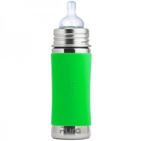 Pura Kiki Stainless Steel Infant Bottle 325ml - Green