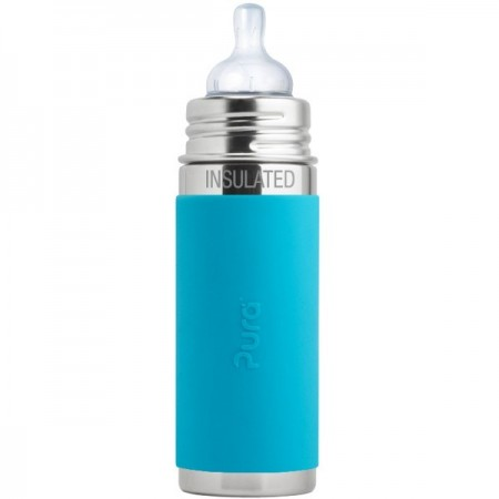 Pura Kiki Insulated Infant Bottle 260ml - Aqua