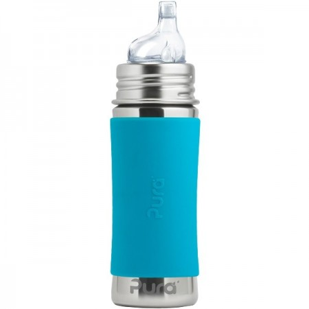 Pura Kiki Sippy Bottle 325ml - Aqua