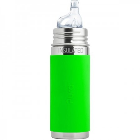 Pura Kiki Insulated Sippy Bottle 260ml - Green