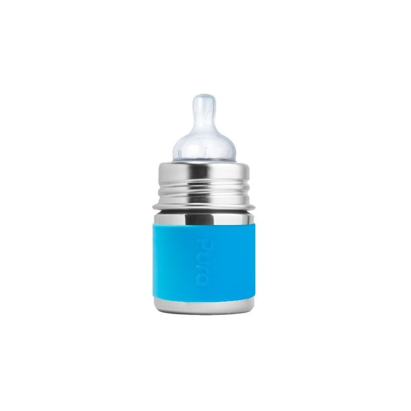 Pura Kiki Stainless Steel Infant Bottle 150ml - Aqua