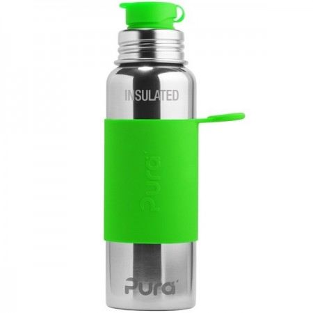 Pura Kiki Insulated Sports Bottle 650ml - Green