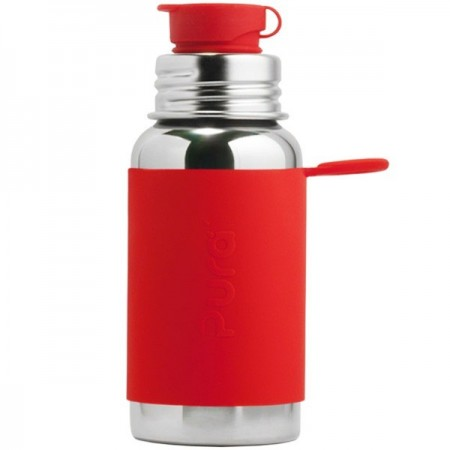 Pura Sport Stainless Steel Sports Bottle 550ml - Red
