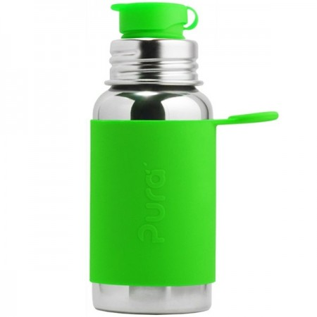 Pura Sport Stainless Steel Sports Bottle 550ml - Green