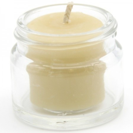 Queen B beeswax candles - jam jar 4hr tealight (single)