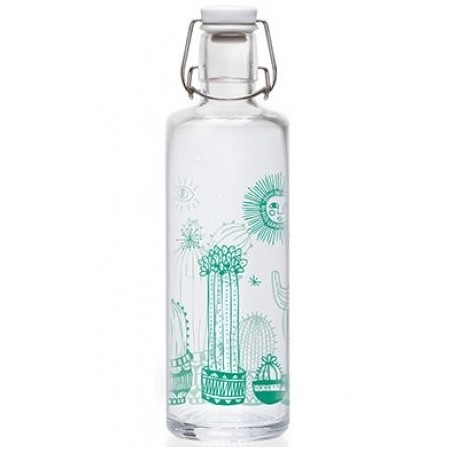 soulbottles Glass Water Bottle 1L - Cactuspower