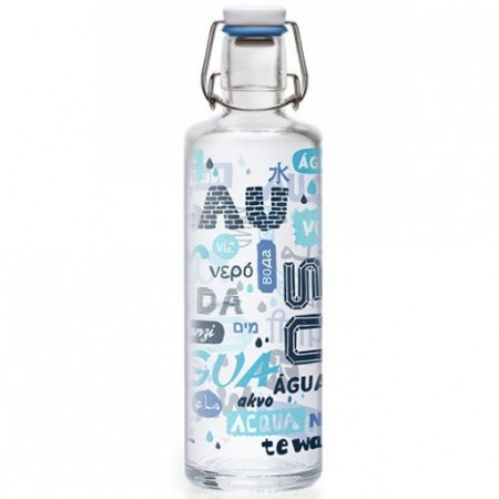 soulbottles Glass Water Bottle 1L - Everybody Everywhere