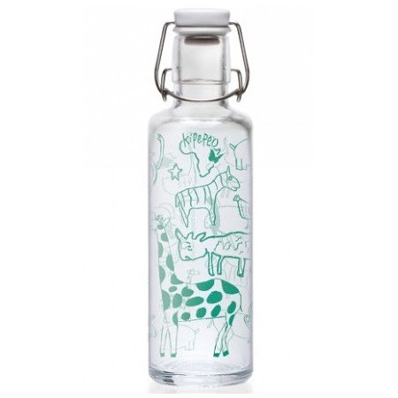 soulbottles Glass Water Bottle 0.6L - Kipepeo