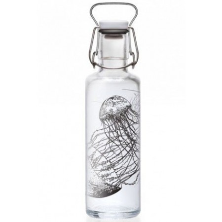soulbottles Glass Water Bottle 0.6L - Jellyfish In The Bottle
