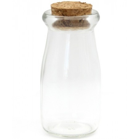 Mini Milk Bottle with Cork 90ml