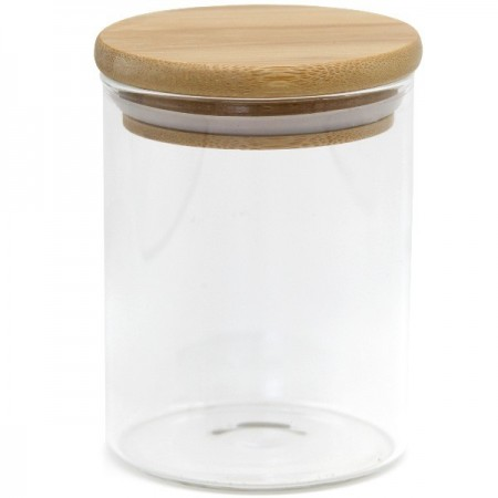 Glass Bamboo Spice Jar 250ml
