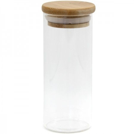 Glass Bamboo Spice Jar 175ml