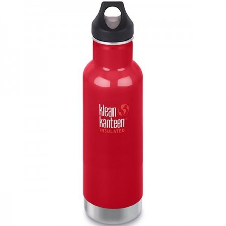Klean Kanteen Classic Insulated Water Bottle 20oz 592ml - Mineral Red (Klean Coat)