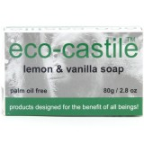 Eco-Castile Bar Soap 80g - Lemon & Vanilla