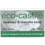 Eco-Castile Bar Soap 80g - Lavender & Manuka