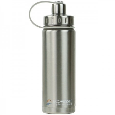 EcoVessel Boulder Insulated Bottle 600ml - Silver Express