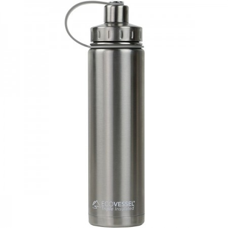 EcoVessel Boulder Insulated Bottle 700ml - Silver Express