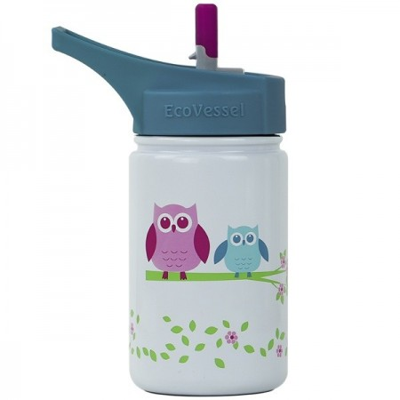 EcoVessel Scout Water Bottle 400ml - Owl White