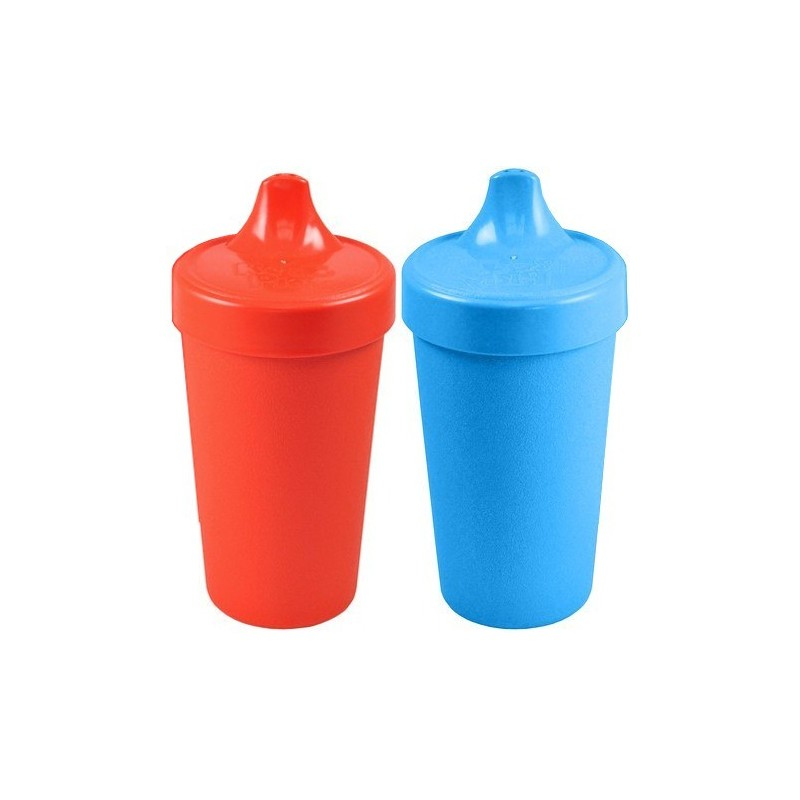Re-Play recycled sippy cups (2) - primary colours (red & blue)