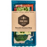 Honeybee beeswax food wraps - set of 3