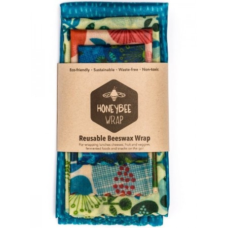 Honeybee beeswax food wraps - set of 4
