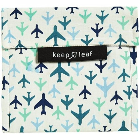 Keep Leaf Large Reusable Baggie - Planes