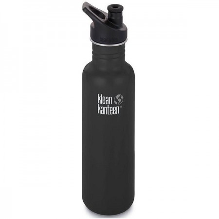 Klean Kanteen Classic Stainless Steel Water Bottle 27oz 800ml - Shale Black (Klean Coat)